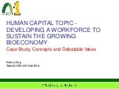 BioEconomy: Managing Talent and Human Capital
