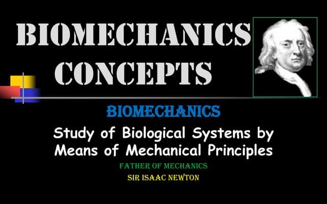 Biomechanics concepts
