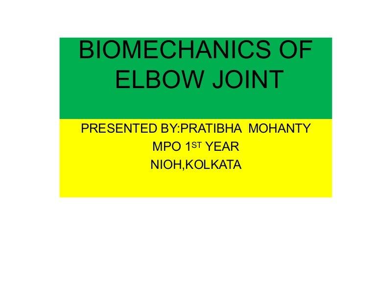 Biomechanics Of Elbow Joint