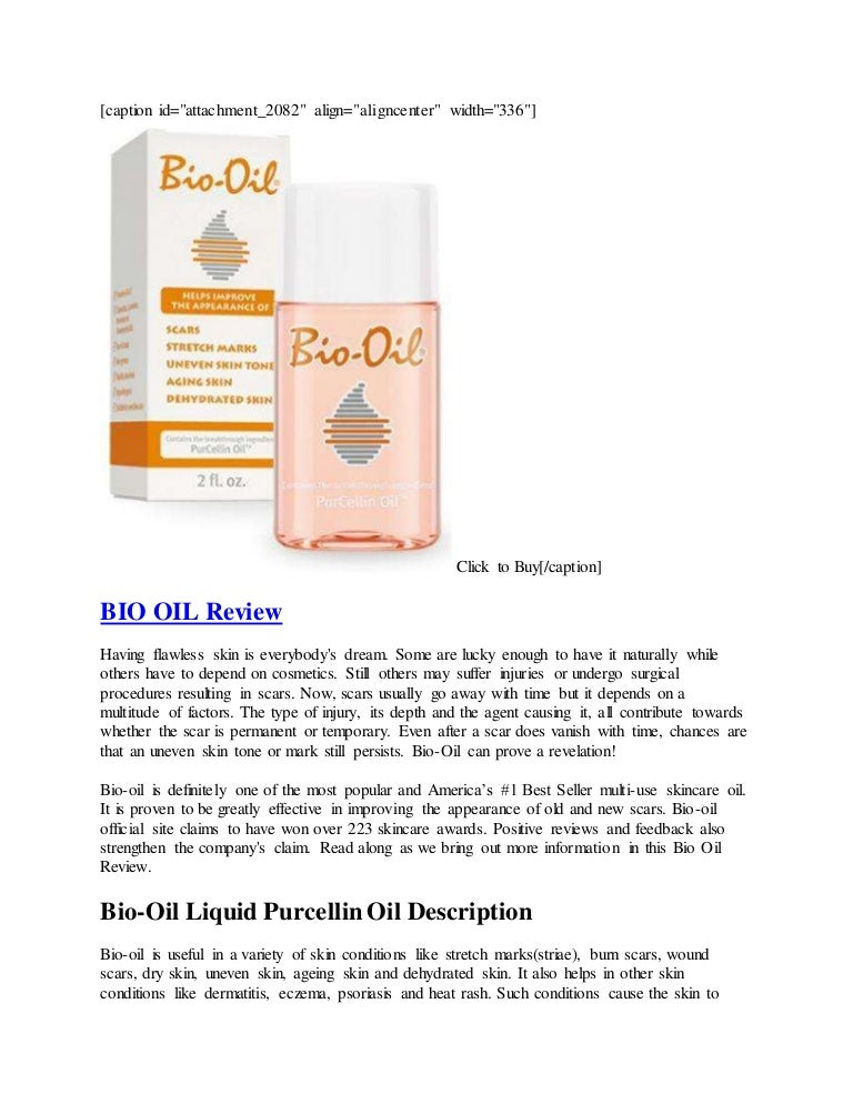 Oil reviews bio Bio Oil