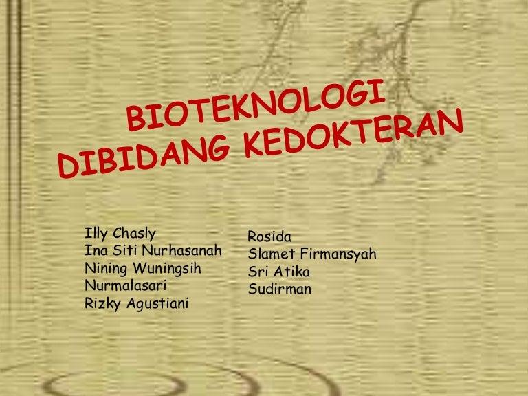 Bioteknologi Dibidang Kedokteran