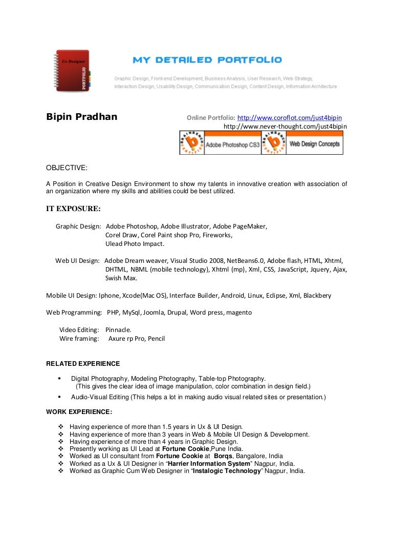 Essay Web Designer Resume Web Designer Resume Good Resume And Dayjob Web  Designer Resume Template Cover  Ui Developer Resume