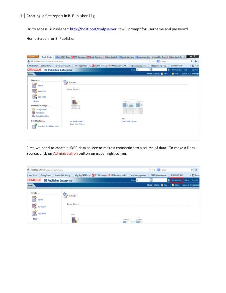 bi publisher starter guide to develop first report rh slideshare net oracle bi publisher user manual oracle bi publisher user guide pdf