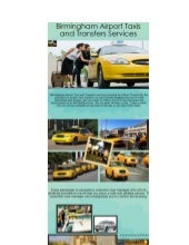 Birmingham Airport Taxis and Transfers Services