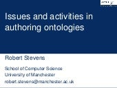 Issues and activities in authoring ontologies