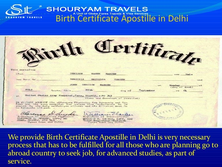 birth certificate apostille delhi slideshare