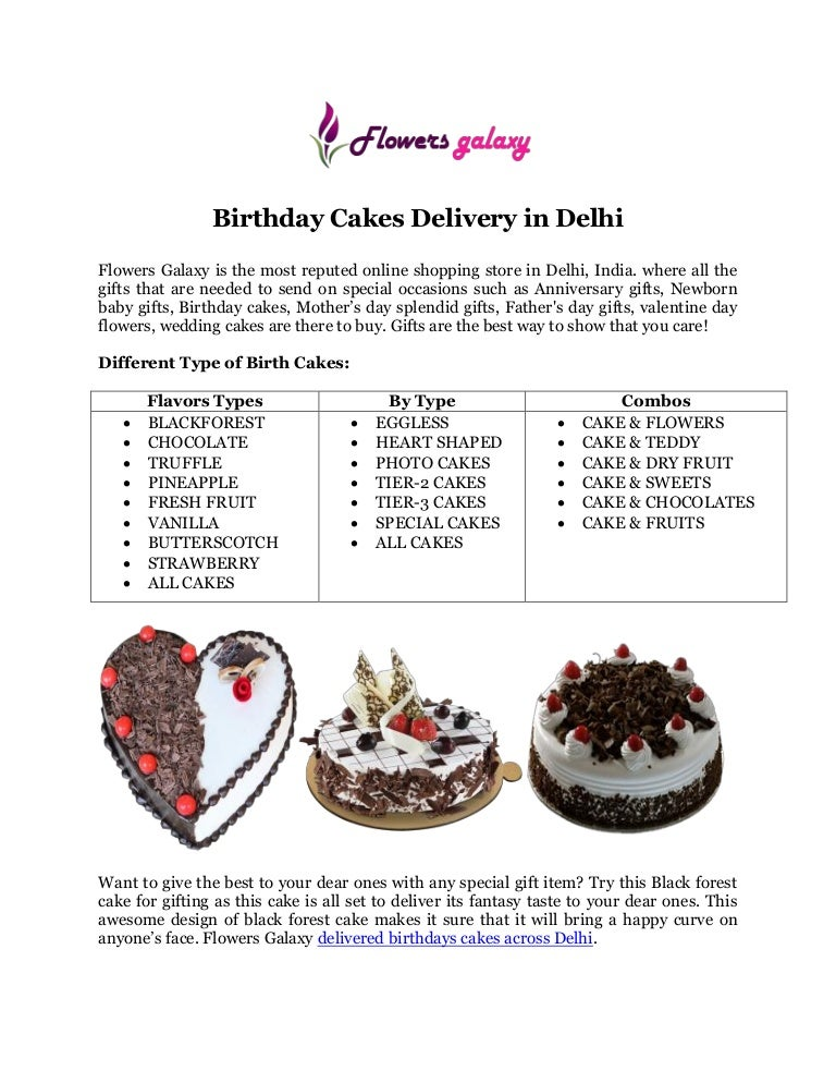 Online Birthday Cakes Delivery In Delhi