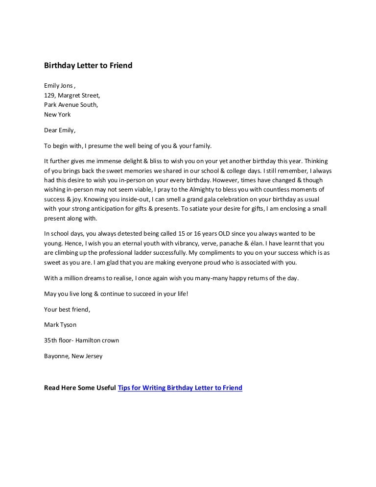 Sweet Letter For A Friend Altin Northeastfitness Co