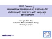 What is Developmental Language Disorder