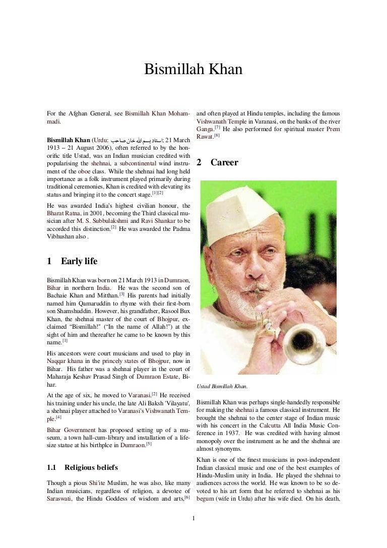 Bismillah khan Part 2