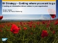 BI Strategy – Getting Where You Want to Go