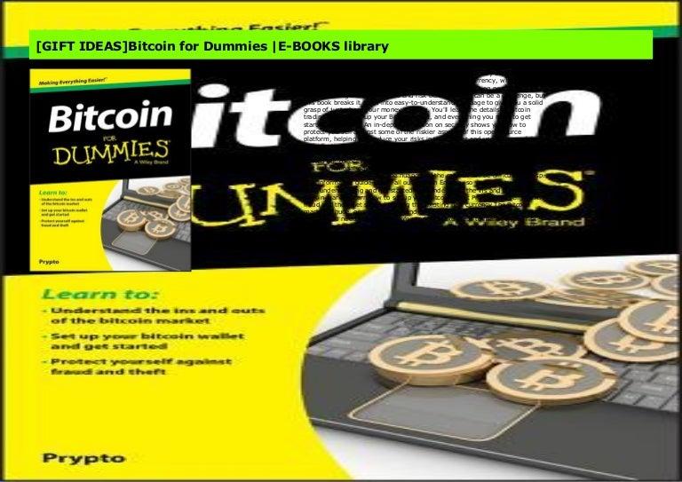 understanding bitcoins for dummies