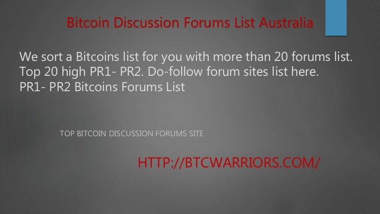 bitcoins forums
