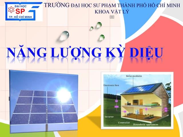 Bài thuyết trình pin mặt trời