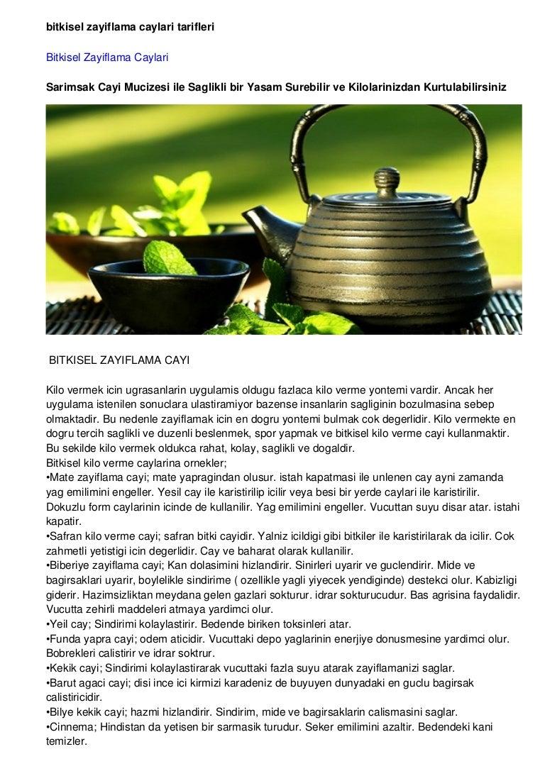 Bitkisel Zayıflama Çayları