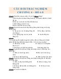 Bài tập trắc nghiệm hóa 8 chương 4 + đáp án