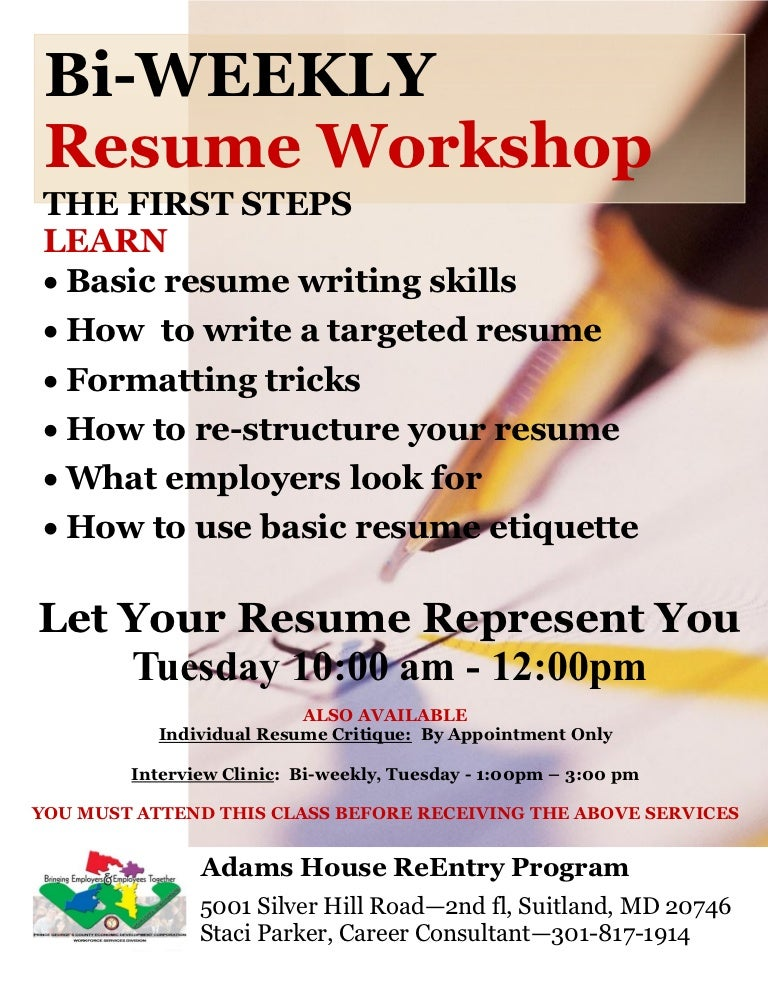 how to write reentry resume