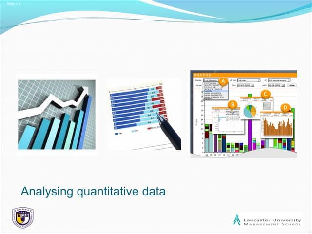 Bj research session 9 analysing quantitative