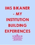Bjs rampuria jain  college ims jay narayan vyas colony  bikaner institute    my institution building experiences