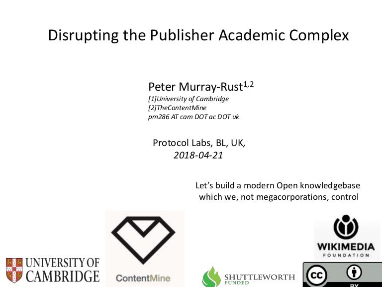Disrupting the Publisher-Academic Complex
