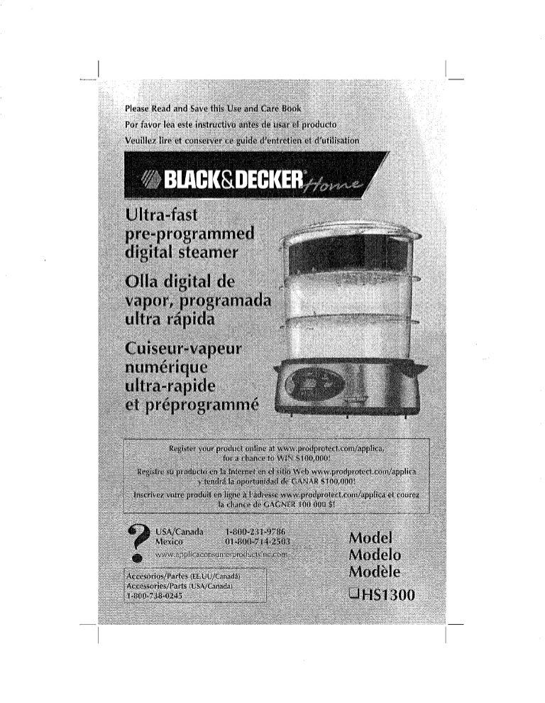 3-tier digital programmable steamer   black + decker.