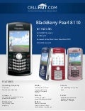 BlackBerry Pearl 8110 Pink Unlocked Quadband GSM Cell Phone