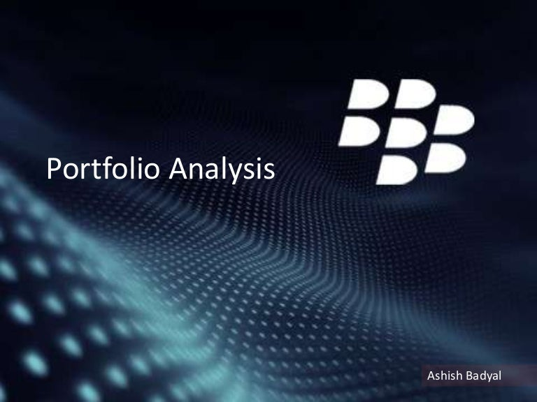 Blackberry Product Portfolio