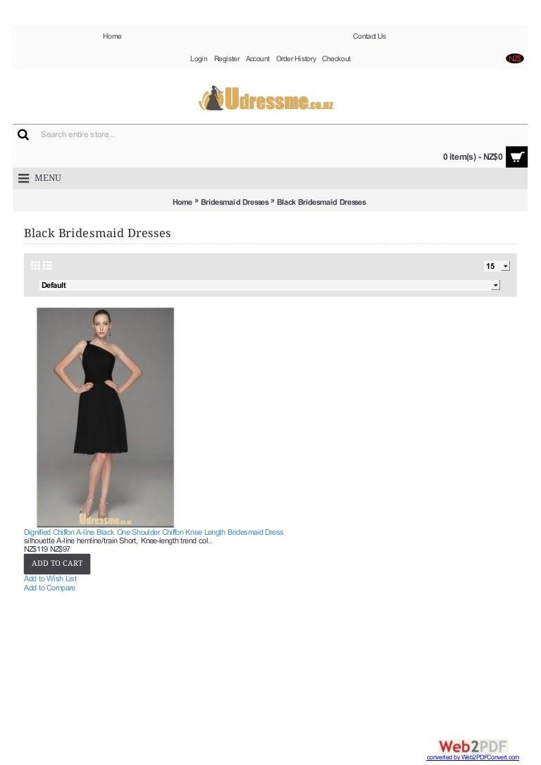 Black bridesmaid dresses nz