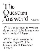The Question Answer'd