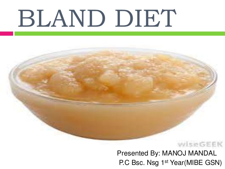 foods allowed on bland diet