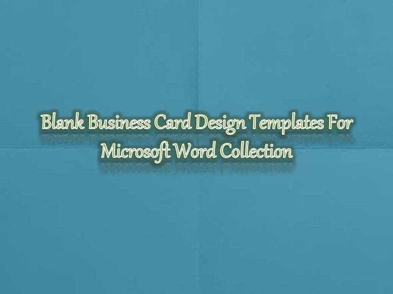 printable blank business card design templates for ms word