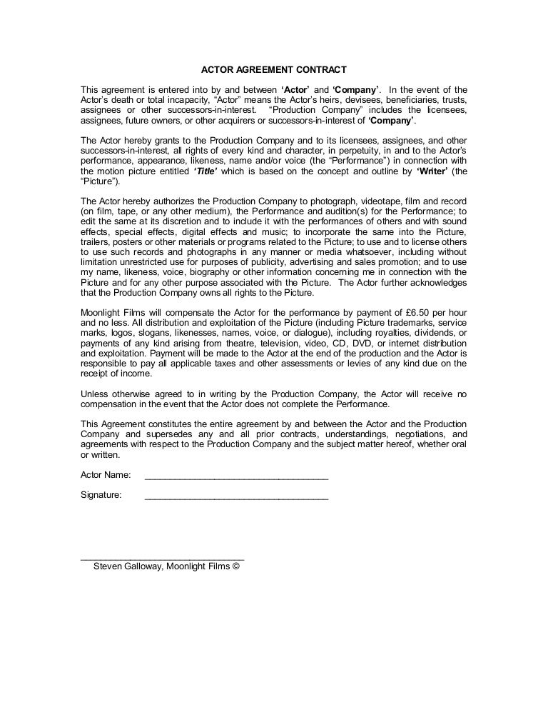 Blank\' actor contract