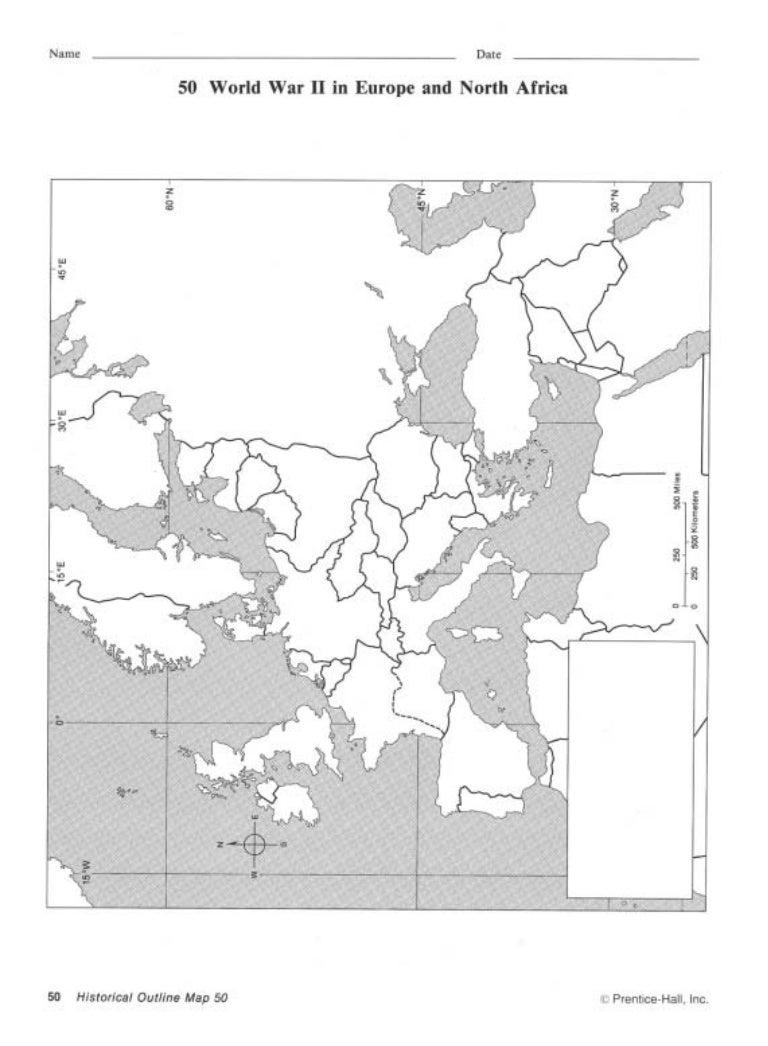 Europe Map World War II
