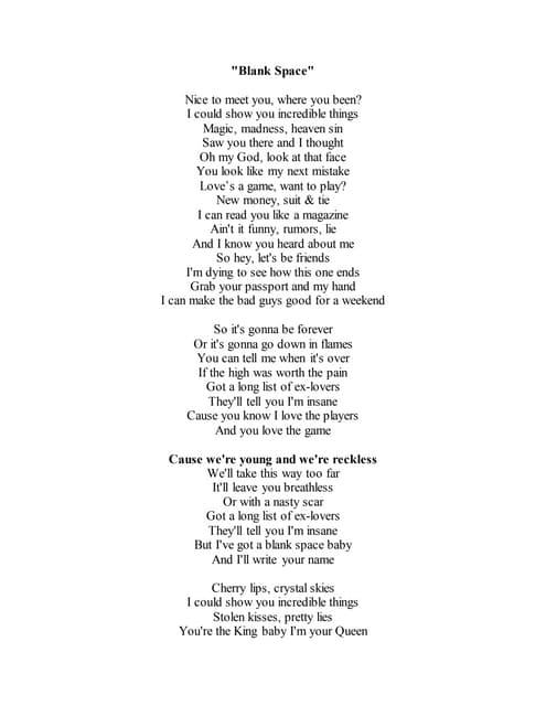 Lyrics Of Cups Popular Song
