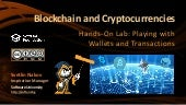 Blockchain and Cryptocurrencies: Hands on Lab