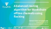 A Balanced Routing Algorithm for Blockchain Offline Channels using Flocking