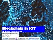 Blockchain in IoT and Other Considerations by Dinis Guarda