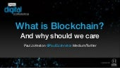 What is Blockchain and why should we care?
