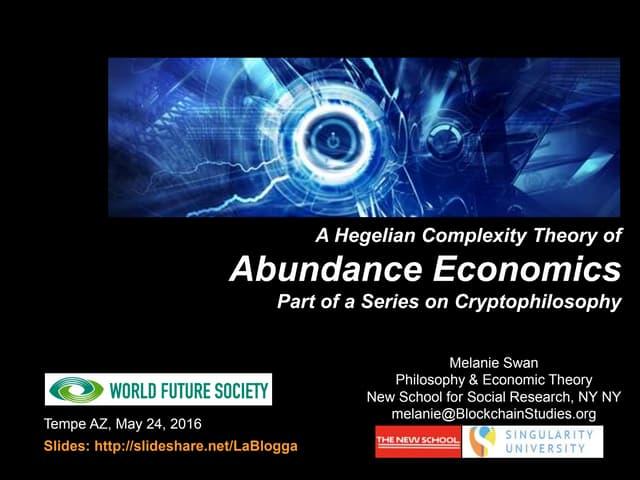 Blockchain Theory of Abundance Economics