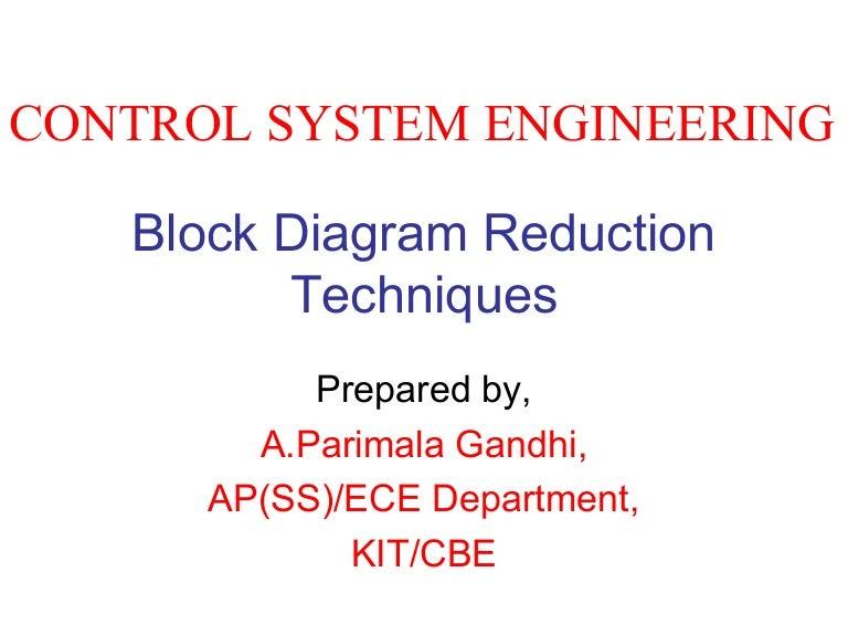 Nice Block Diagram Reduction Technique Embellishment - Electrical ...