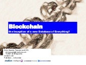 Blockchain the inception of a new database of everything by dinis guarda blockchain age
