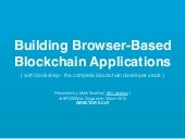 Blockstrap at FOSS Asia - 2015 - Building Browser-Based Blockchain Applications