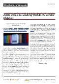Blog.batteryfast.co.uk - Apple Could Be Leading World's PC Vendor In 2012