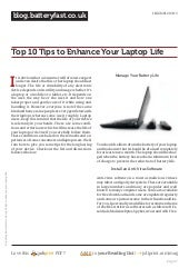 Blog.batteryfast.co.uk top-10-tips-to-enhance-your-laptop-life