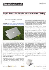 Blog.batteryfast.co.uk top-5-best-ultrabooks-on-the-market-today