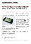 blog.bestlaptopbattery.co.uk-Will iPhone 4S Work in an iPhone 4 Case? iPhone 4S Pre-Orders Top 1 Million in 24 Hours
