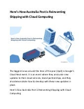 Here's How Australia Post is Reinventing Shipping with Cloud Computing