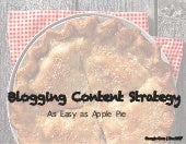 Blogging Content Strategy | As Easy as Apple Pie