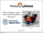 Blog Marketing @ DigitalWeek - MarketingArena