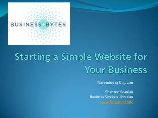 Starting a Simple Website For Your Business